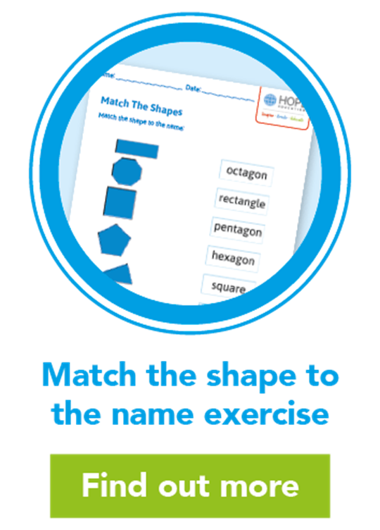 Match the shape to the name exercise