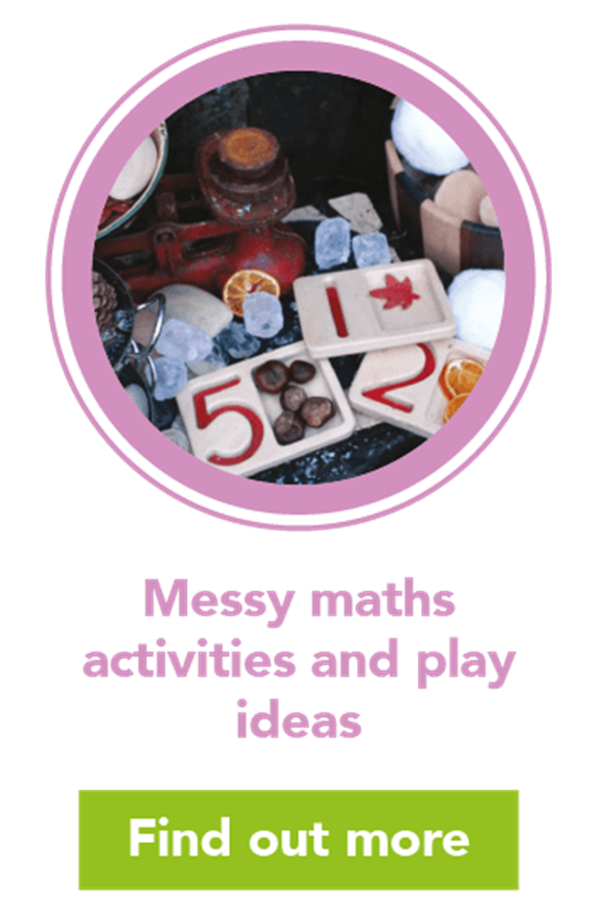 Messy maths: mud ktichen play