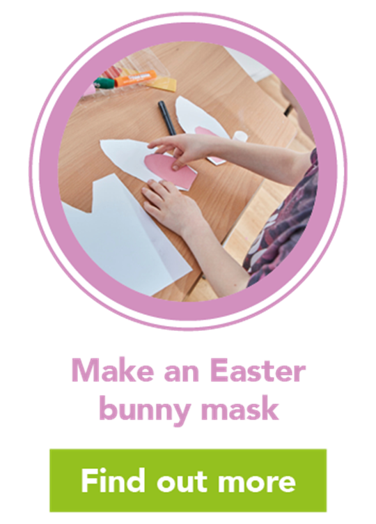 Easter paper plate Bunny Mask Craft