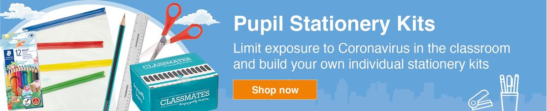 Pupil Stationery Kits - limit exposure with individual kits